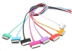 4world Cable USB 2.0 for iPad / iPhone / iPod transfer/charge 1.0m blue