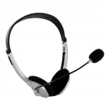 4world Headset with microphone and volume control l silver 02994