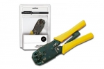 Digitus Multi modular crimping tool, solid metal, RJ11, RJ12 and RJ45