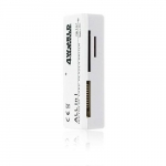 4world Flash card reader USB MS/M2/SD/microSD/MMC white