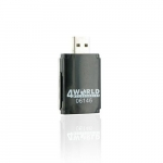 4world Flash card reader USB MS/M2/SD/microSD/MMC