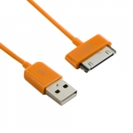 4world Cable USB 2.0 for iPad / iPhone / iPod transfer/charge 1.0m orange