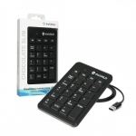 4world Numeric Keypad USB black SLIM CHOCOLATE