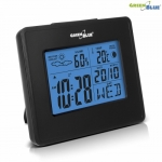 Greenblue Weather station clock moon calendar GB144 black