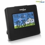 Greenblue Weather station clock moon calendar GB148 B black