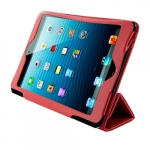 4world COVER/STAND FOR IPAD MINI, FOLDED CASE,7''RED