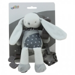 Axiom Rattle with a clip New Baby - Bunny