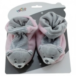 Axiom Boots with Rattle New Baby - Bear pink 10 cm
