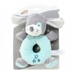 Axiom Rattle New Baby Dog mint 16 cm