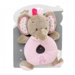 Axiom Rattle New Baby Elephant pink 16 cm
