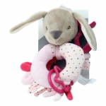 Axiom Rattle New Baby Rabbit pink 16 cm