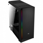 Aerocool Computer case PGS RIFT USB3.0 Black Glass