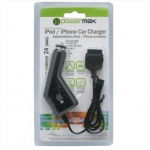 Powermax Car Charger PPC006 12-24V>5V 2A for iPhone, iPad, iPod
