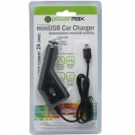 Powermax Car Charger PPC002 12-24V>5V 2A miniUSB, for Mobile Phones, GPS