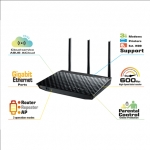 Asus RT-N18U 2.4 GHz 600 Mbps High Power Router: 4 x RJ45 for 10/100/1000