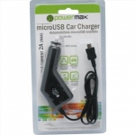 Powermax Car Charger PPC005 12-24V>5V2A microUSB, for Smartphones, GPS (G