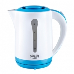 Adler AD 1244 Electric Kettle, 2.5L, 2000W, Anti-calc filter, Concealed h