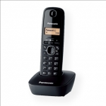 Panasonic KX-TG1611FXH Cordless phone, Black /  LCD / Memory 50 numbers /