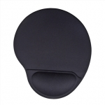 Acme Ergonomic mouse pad Black, 220 x 250 x 25 mm