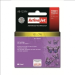 Activejet Action ActiveJet AB-123YN (Brother LC123Y)  Ink Cartridge, Yell