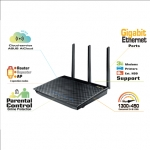 Asus RT-AC66U Wi-Fi standards 802.11ac, 802.11n, Dual band, Ethernet LAN