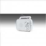 Muse Portable Radio M-051RW White, AUX in