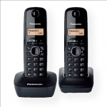 Panasonic Cordless KX-TG1612FXH Black, Caller ID, Wireless connection, Ph