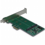 Inter-tech PCIe Adapter for two M.2 S-ATA drives/RAID (Drives 2xM.2 SSD,