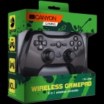 Canyon 3in1 wireless gamepad, up to 8 hours of play time, transmission di