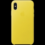 Apple iPhone X Leather Case - Spring Yellow
