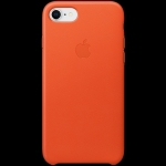 Apple iPhone 8 / 7 Leather Case - Bright Orange