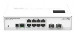 Mikrotik CloudRouterSwitch CRS210-8G-2S+IN, 400MHz CPU, 64MB RAM, 8xLAN,