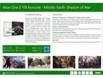 Microsoft XBOXONE S 1TB SHADOW OF MORDOR