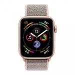 Apple iWatch Series4 GPS, 44mm Gold Aluminium Case with Pink Sand Sport L