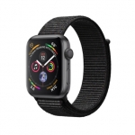 Apple iWatch Series4 GPS, 40mm Space Grey Aluminium Case with Black Sport