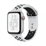 Apple iWatch Nike+ Series4 GPS, 44mm Silver Aluminium Case with Pure Plat