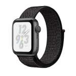 Apple iWatch Nike+ Series4 GPS, 40mm Space Grey Aluminium Case with Black