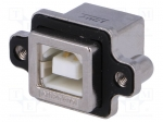 Amphenol MUSB-D111-M1 / Socket; USB B; MUSB; for panel mounting, screwed;