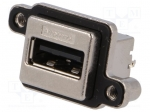 Amphenol MUSB-A511-00 / Socket; USB A; MUSB; for panel mounting, screwed;