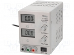 Axiomet AX-1803D / Pwr sup.unit: laboratory; Channels:1; 0÷18VDC; 0÷3A