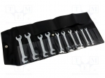 Bahco 1931M/10T / Set: keys; Pcs:10; spanner