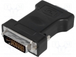 Adapter; D-Sub 15pin HD socket, DVI-I (24+5) plug