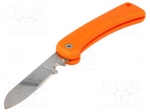 Bahco 2820EF2 / Knife; for electricians; 200mm; Material: stainless steel