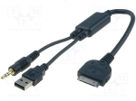 4carmedia / Aux adapter; Jack 3.5mm plug, USB A plug, iPOD plug; BMW