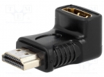 Adapter; HDMI socket 90°, HDMI plug; Colour: black