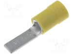 Blade terminal; 4÷6mm2; crimped; for cable; insulated; yellow