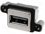 Amphenol MUSB-A111-M0 / Socket; USB A; MUSB; for panel mounting, screw; T