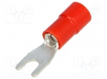 Bm group BM 00108 / Fork terminal; M3; Ø:3.2mm; 0.25÷1.5mm2; crimped; f