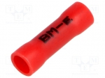 Bm group BM 00162 / Butt splice; insulated; copper; Insulation: PVC; 0.25
