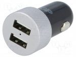 GP CC41B-B1 / Pwr sup.unit: automotive; Uout:5V; 2.4A; Out: USB A socket